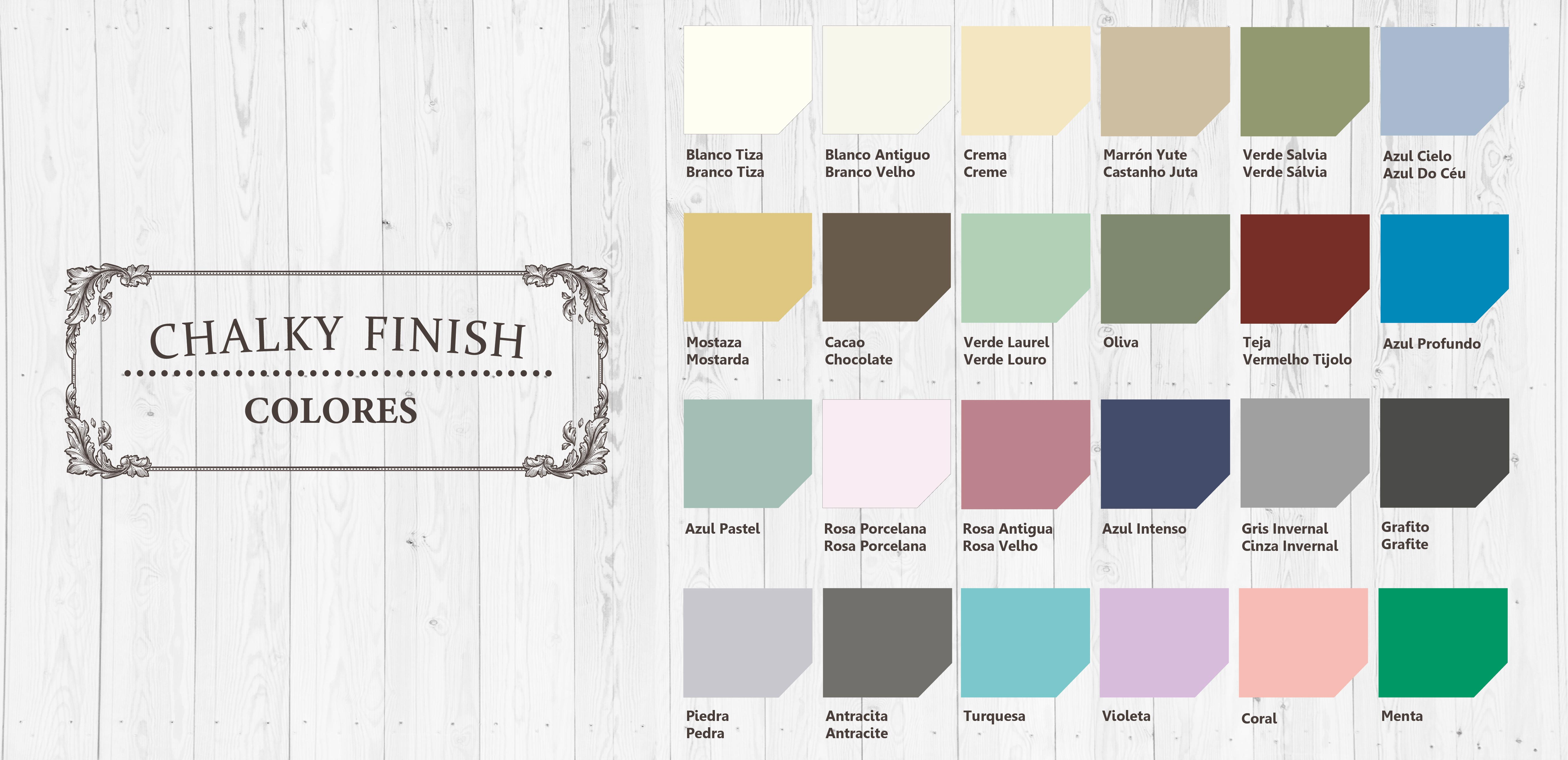 Chalky Finish colores
