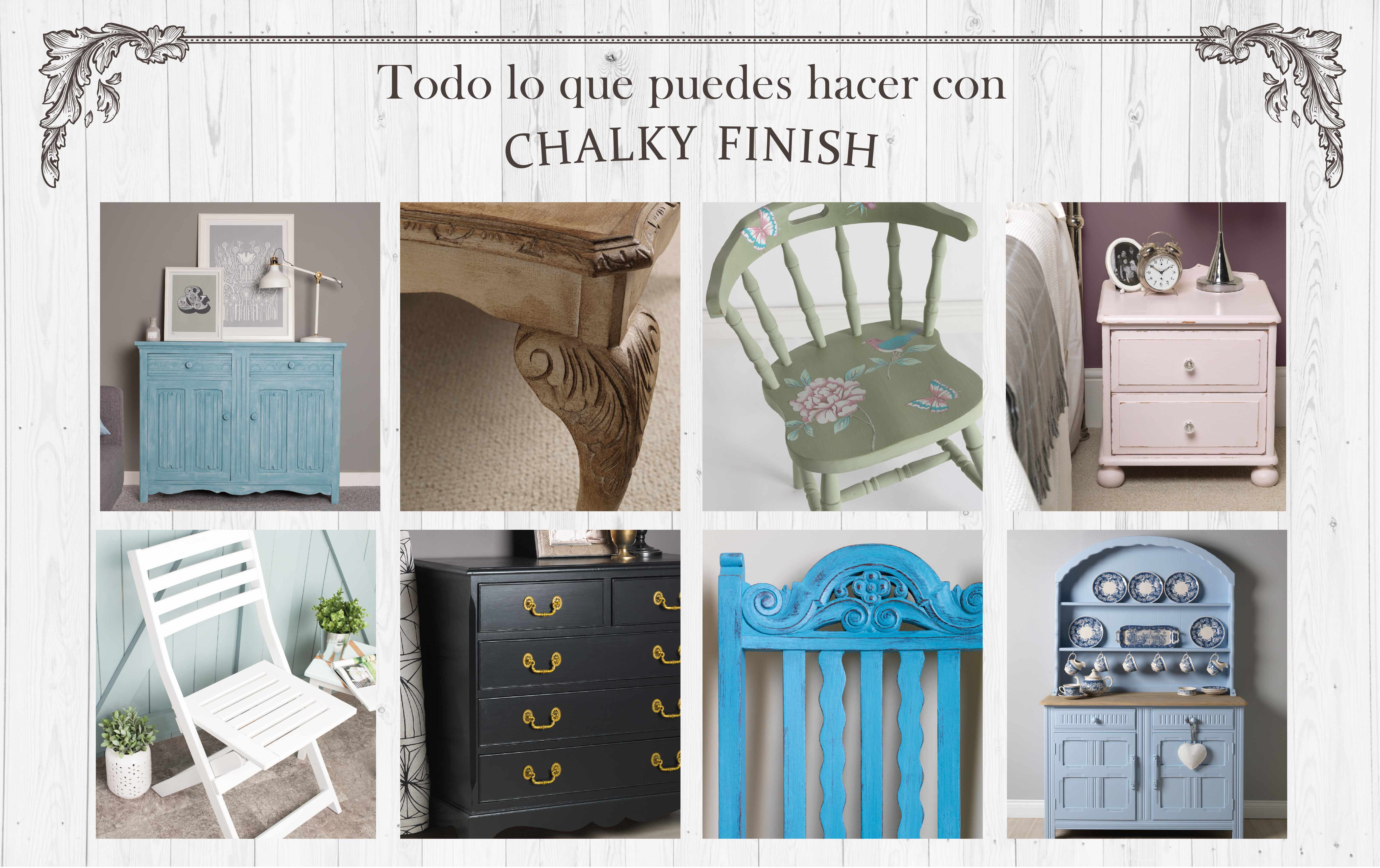 Chalky Finish collage